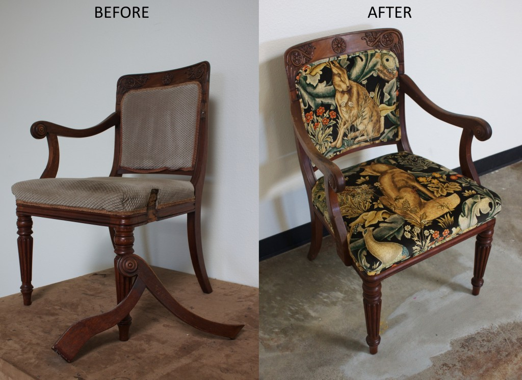 Before and After Rabbit Chair