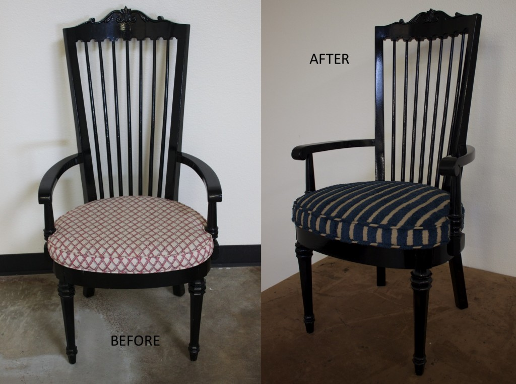 Black Wooden Chair Before & After