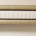 Custom Valance with channel contrast and decorative nailheads
