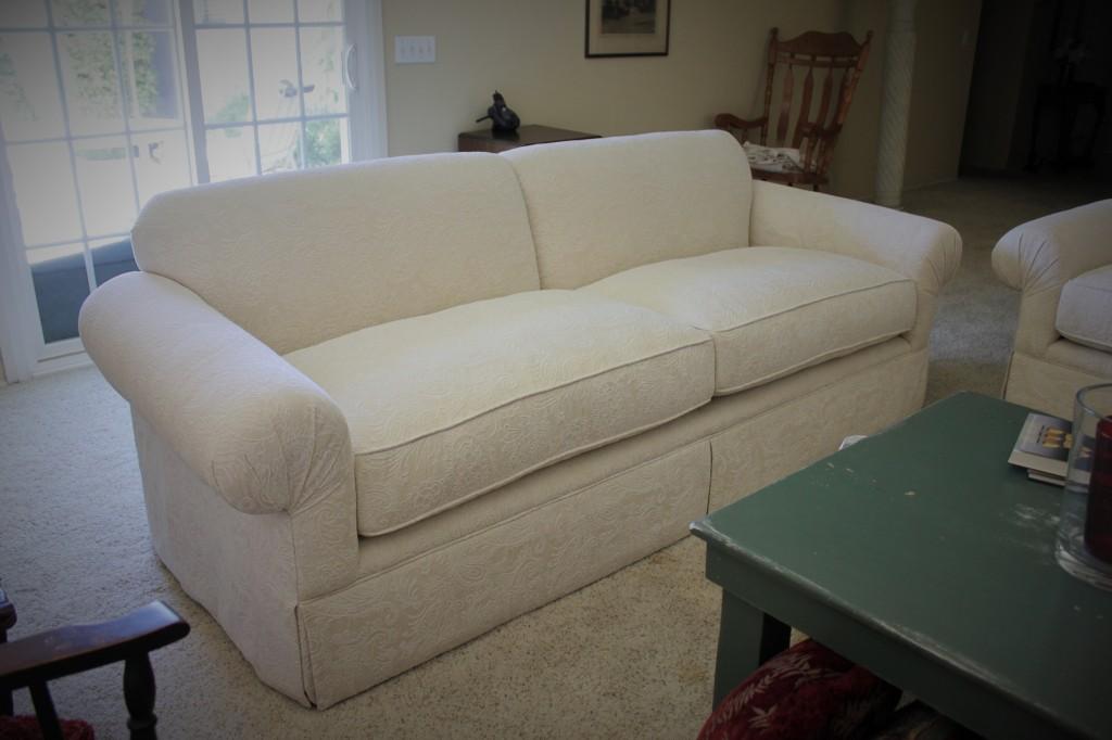 Custom White Sofa