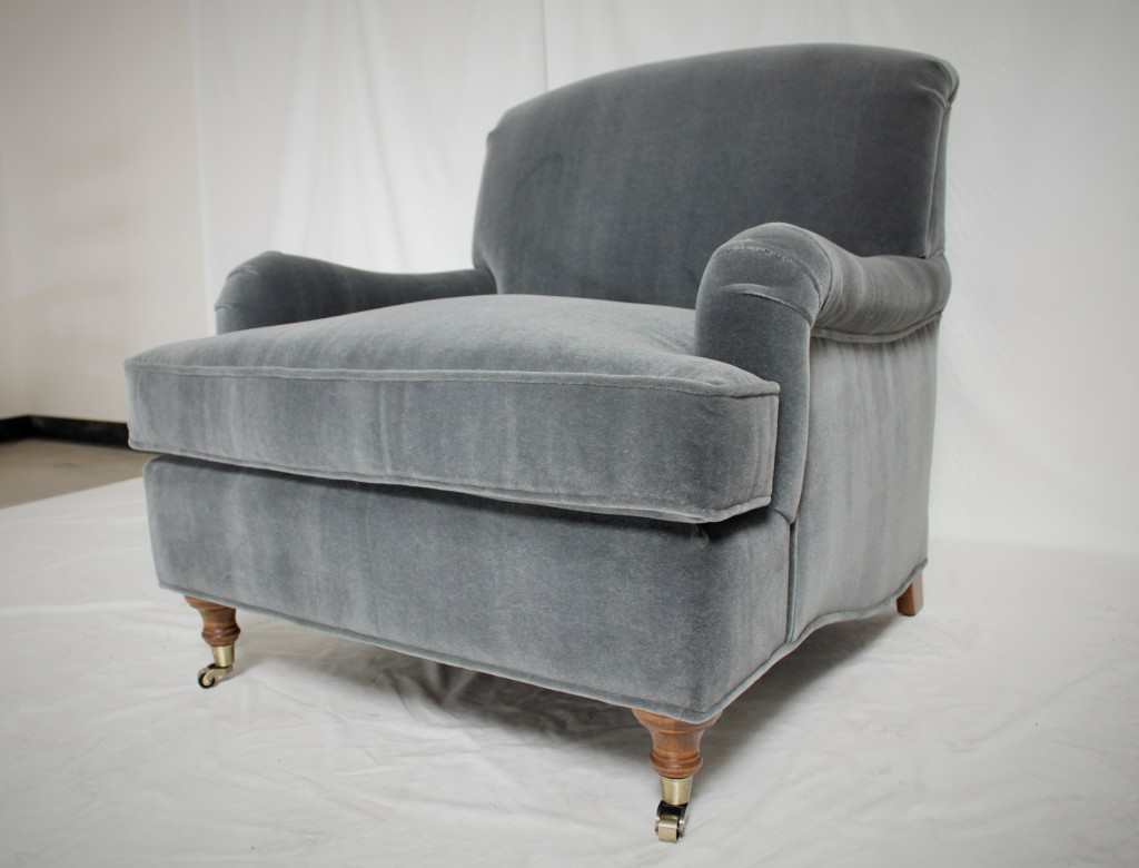 Gray Chair with Decorative Casters