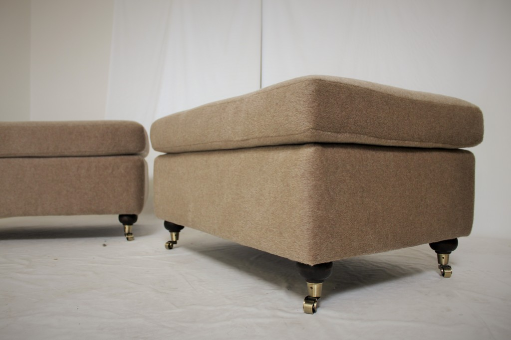 Matching Ottomans with Decorative Casters