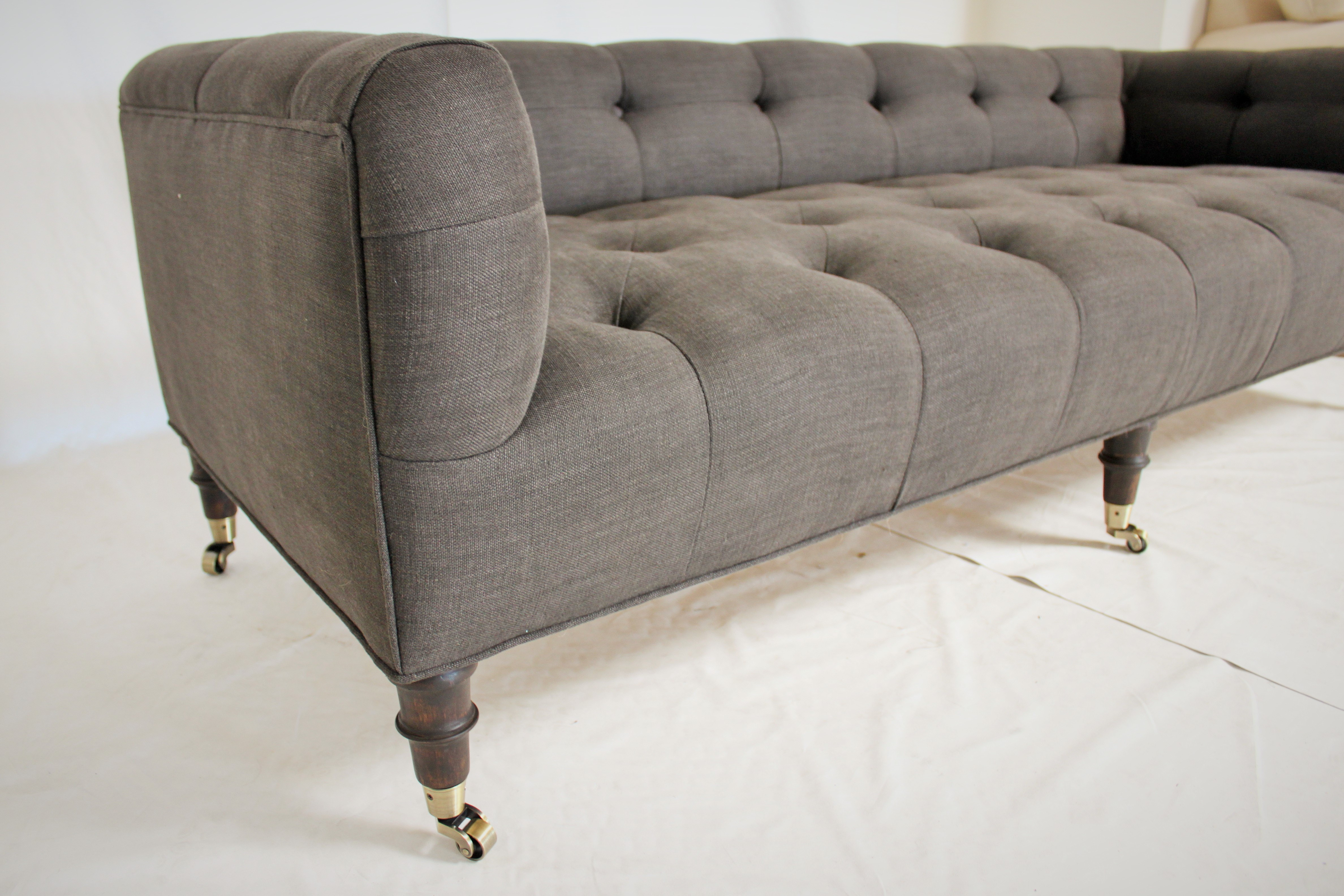 Sofa Bench With Decorative Casters