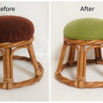 Reupholstered Ottoman