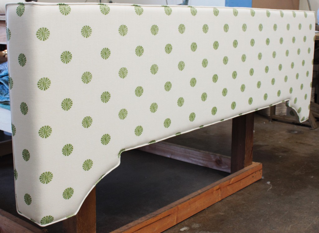 Green and White Custom Valance