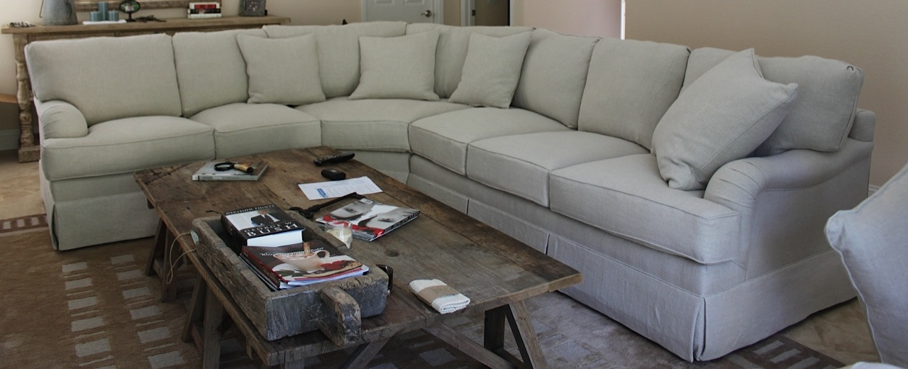 Reupholstered Sectional Sofa Mrb Custom Sofas